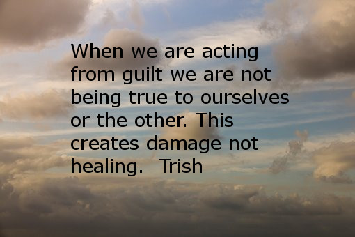 Guilt can be unwholesome in relationships