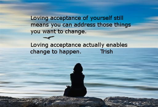 Acceptance is the key to healing depression and anxiety.