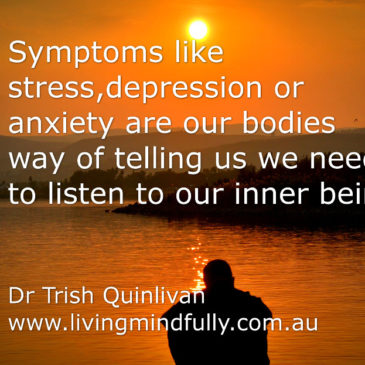 Healing symptoms of depression or anxiety